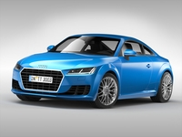 Audi TT Coupe (2015) 3D Model