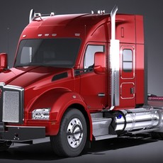 Kenworth T880 Sleeper Cab 2015 3D Model