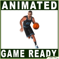 White Basketball Player 7538 tris 3D Model