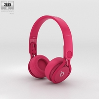 Beats Mixr High-Performance Professional Pink 3D Model