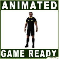 White Soccer Referee 12314 tris 3D Model