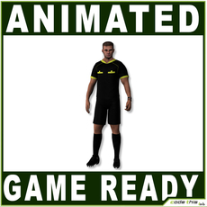 White Soccer Referee 12314 tris 3D Model