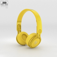 Beats Mixr High-Performance Professional Yellow 3D Model