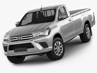 Toyota Hilux Regular Cab 2016 3D Model