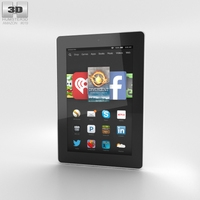 Amazon Fire HD 7 White 3D Model