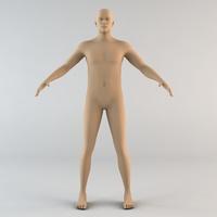 Caucasian Male Human Character 3D Model