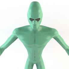 Strong Alien Character 3D Model