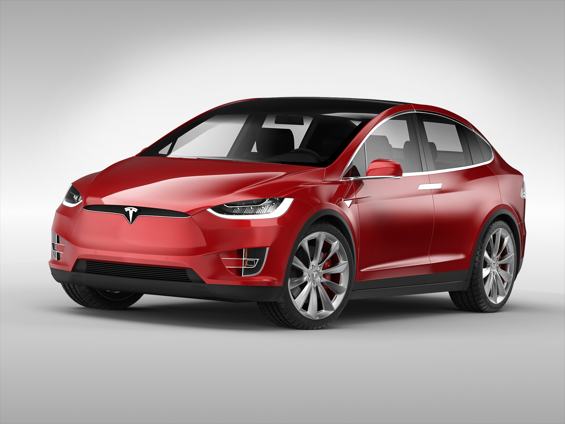 tesla model x 2017 3d model. Black Bedroom Furniture Sets. Home Design Ideas