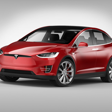 Tesla Model X (2017) 3D Model