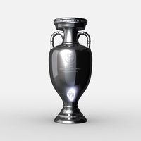 UEFA Euro League Cup Trophy 3D Model