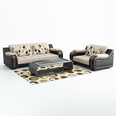 Modern Sofa Set 3D Model