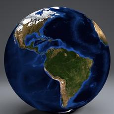 EarthGlobe 10k 3D Model