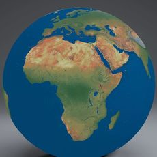 EarthGlobe 16k 3D Model