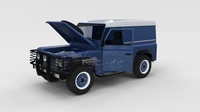 Full Land Rover Defender 90 Hard Top seethrough rev 3D Model