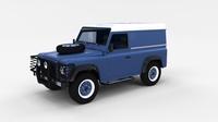 Land Rover Defender 90 Hard Top w interior rev 3D Model
