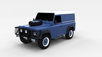 Land Rover Defender 90 Hard Top rev 3D Model