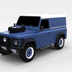 Land Rover Defender 90 Hard Top rev 3D Model