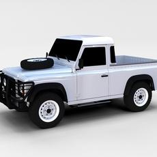Land Rover Defender 90 Pick Up rev 3D Model