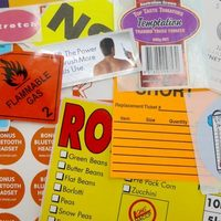 Food labels cover