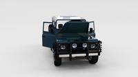 Full Land Rover Defender 90 Station Wagon rev 3D Model