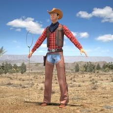 Cowboy 3D Model