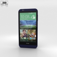 HTC Desire 510 Deep Navy Blue 3D Model