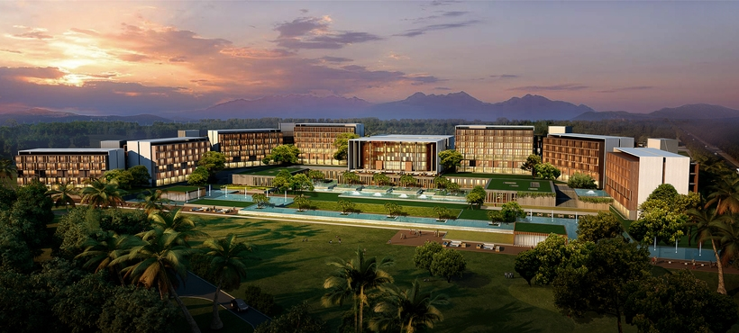 Vacation hotel 001 3D Model