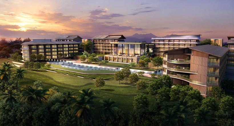 Vacation hotel 002 3D Model