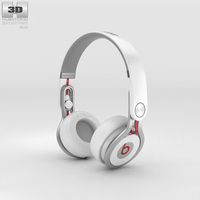 Beats Mixr High-Performance Professional White 3D Model