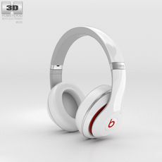 Beats by Dr. Dre Studio Wireless Over-Ear White 3D Model