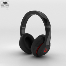 Beats by Dr. Dre Studio Wireless Over-Ear Black 3D Model