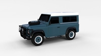 Land Rover Defender 90 Station Wagon rev 3D Model