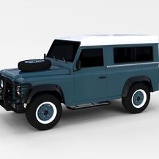 Land Rover Defender 90 Station Wagon rev 3D Model