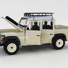Full Land Rover Defender 110 Double Cab Pick Up rev 3D Model