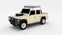 Land Rover Defender 110 Double Cab Pick Up rev 3D Model