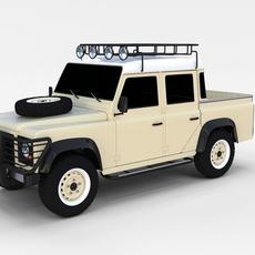 Land Rover Defender 110 Double Cab Pick Up rev 3D Model