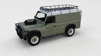 Full Land Rover Defender 110 Hard Top rev 3D Model