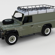 Full Land Rover Defender 110 Hard Top rev 3D Model