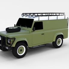 Land Rover Defender 110 Hard Top rev 3D Model