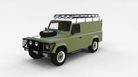 Land Rover Defender 110 Hard Top w interior rev 3D Model