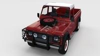 Full Land Rover Defender 110 Pick Up rev 3D Model
