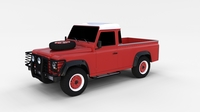 Land Rover Defender 110 Pick Up rev 3D Model