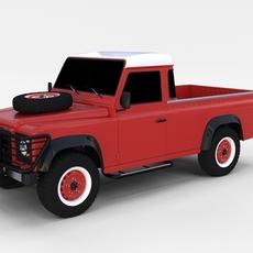 Land Rover Defender 110 Pick Up rev 3D Model