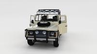 Full Land Rover Defender 110 Station Wagon rev 3D Model