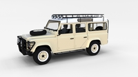 Land Rover Defender 110 Station Wagon w interior rev 3D Model