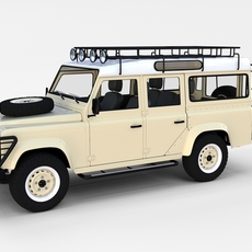 Land Rover Defender 110 Station Wagon w interior rev 3D Model