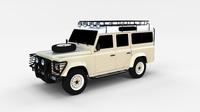 Land Rover Defender 110 Station Wagon rev 3D Model