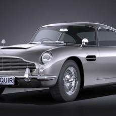 Aston Martin DB5 1963 VRAY 3D Model