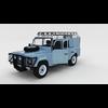 Full Land Rover Defender 110 Utility Station Wagon rev 3D Model