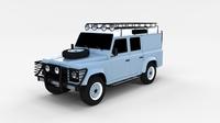 Land Rover Defender 110 Utility Station Wagon rev 3D Model